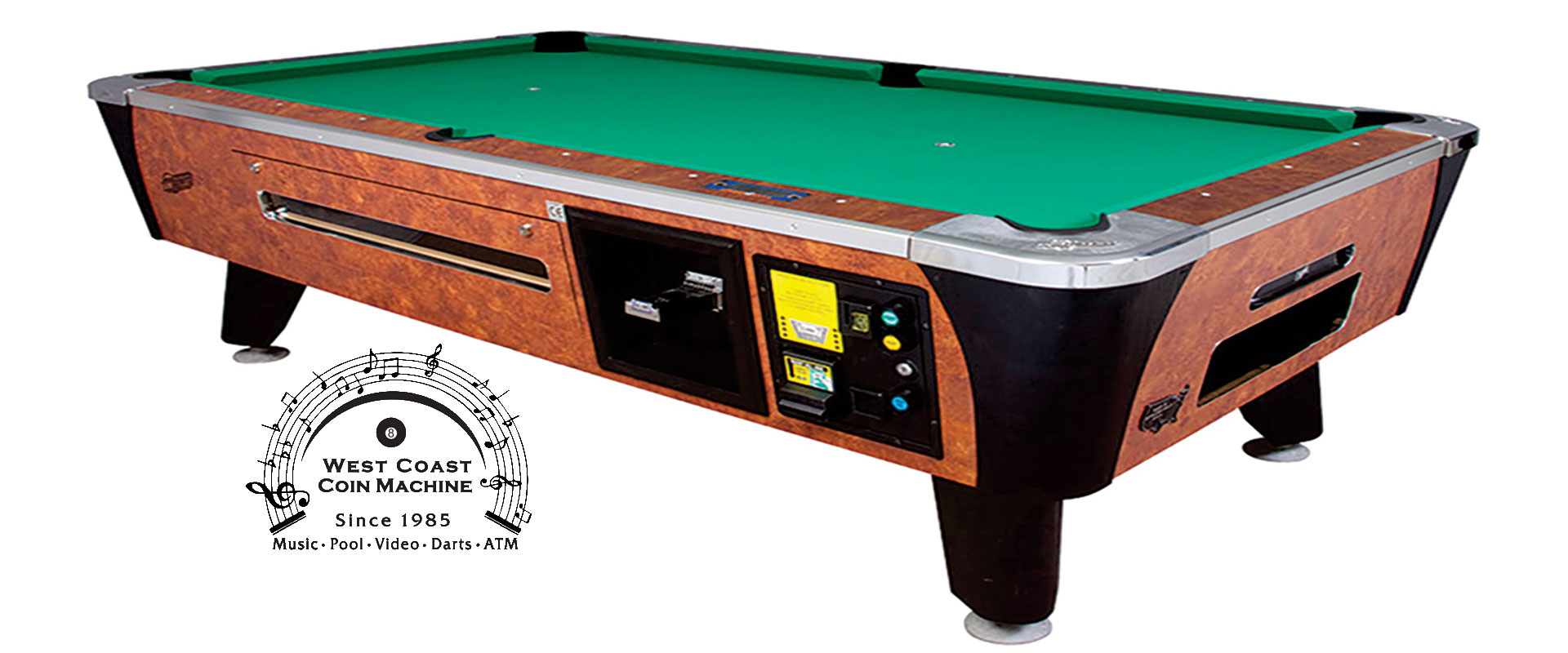 Coin and bill acceptor pool tables valley